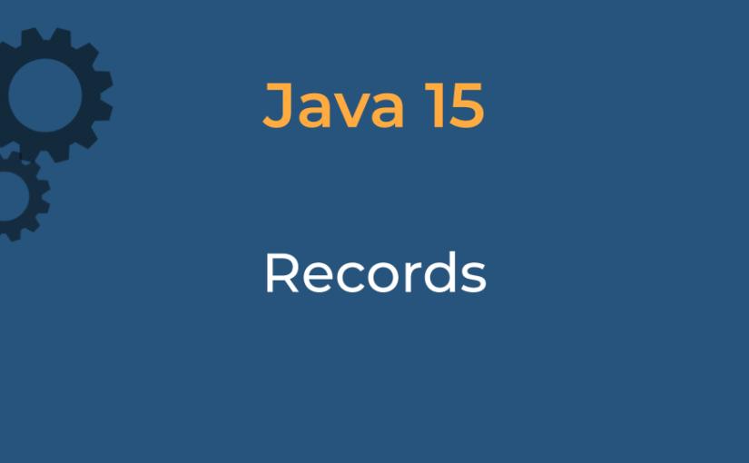 Java 15 – Record