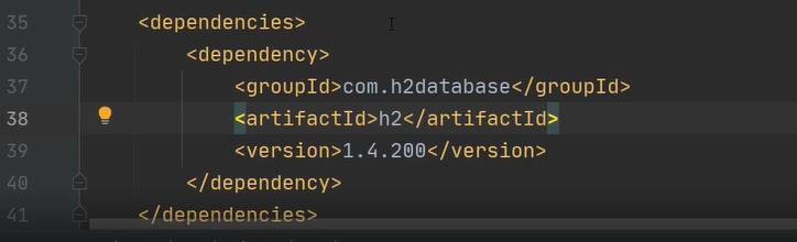 Dependencja - baza danych h2