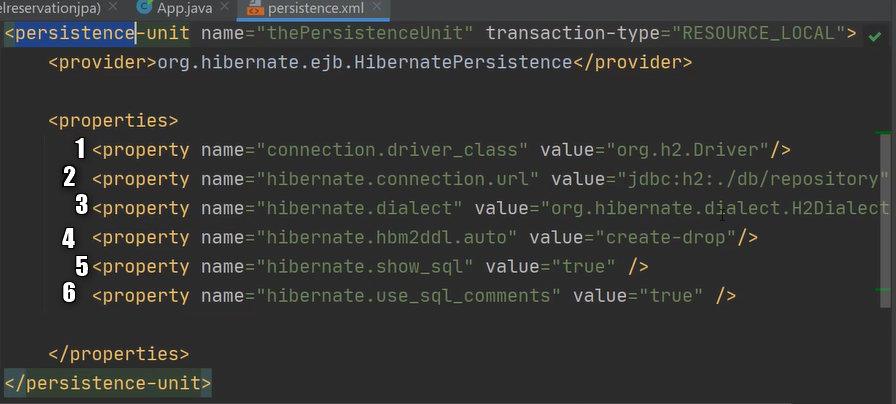 Konfiguracja persistence.xml